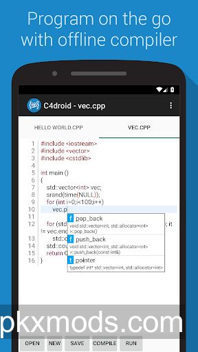 C4droid – C/C++ compiler & IDE v6.96 + GCC Plugin [Paid]