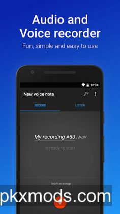 Easy Voice Recorder Pro v2.5.7 build 11089 [Paid]