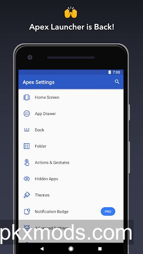Apex Launcher – Customize, Secure, and Efficient v4.4.0-beta [Pro]