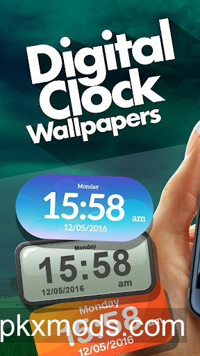 Digital Clock Wallpaper 1.1 [ad-feee]
