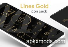 Lines Gold – Icon Pack (Pro Version) v3.1.1 [P]