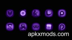 Ultraviolet – Stealth Purple Icon Pack v1.1 [Patched]