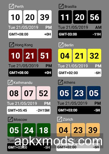 World Clock Widget V13 0 Paid Android Apk Download With Apkxmods Com