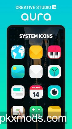 Aura Icon Pack – Rounded Square Icons v5.7 [Patched]
