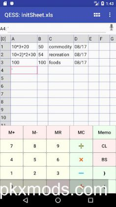 QESS pro – Quick Entry Spread Sheet v2.11.3 [Paid]